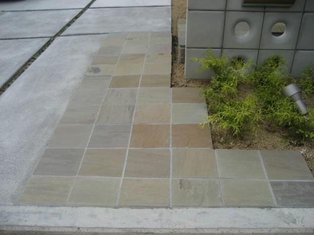 自然石敷き